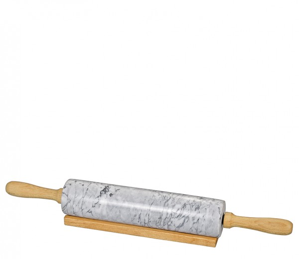 Marmor-Teigrolle mit Holzgriff