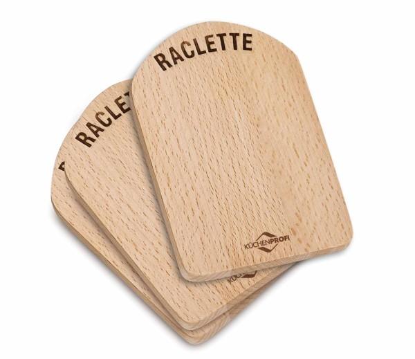 Raclette Brettchen Holz 4er Set