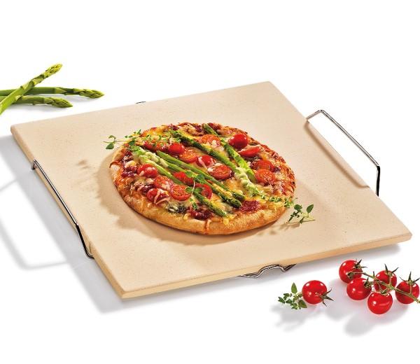 Pizzastein mit Gestell, eckig