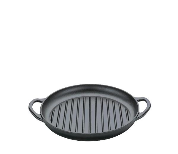 Grillpfanne mit 2 Griffen, 30 cm schwarz PROVENCE